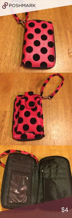 Adorable Wristlet Wallet🐞 Super, super cute wristlet!(: great condition, barely used!                                                              Everything is buy one get one free! Just buy one item and comment on the item (of equal or lesser value) that you would like for free!! If you bundle and purchased 2 items, then you get two more free items! Great deal💕💕 Bags Wallets