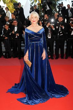 Helen Mirren in ELIE SAAB Haute Couture at the screening of 'Girls Of The Sun' during the 71st annual Cannes Film Festival.