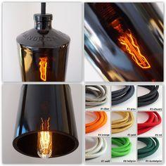 """Hängelampen - Vintage Flaschenlampe, Hängelampe """"Hendricks"""" - ein Designerstück…"""