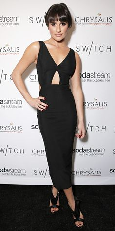 Look of the Day - December 16, 2013 - Lea Michele in Three Floor from #InStyle