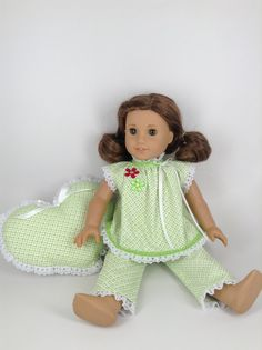 American Girl 18inch Doll Clothes  Lime Green by HFDollBoutique, $20.00