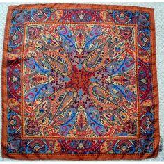 Liberty of London Classic Paisley Vintage Silk Scarf  Unused