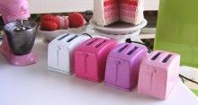 Dollhouse Miniature Toaster in Light Pink - 1/12 scale