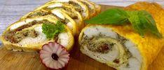Rolada serowa z kurczakiem, pieczarkami i suszonymi pomidorami - Blog z apetytem Snack Recipes, Snacks, Bagel, Feta, Sushi, Blog, Bread, Cooking, Ethnic Recipes