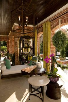 Outdoor Curtains on patio...love it!