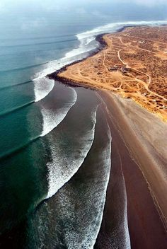 Beautiful and unusal waves. Scopion Bay, Baha California,, Mexico.
