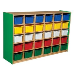 Wood Designs 30 Tray Colors Storage Green Apple - Assorted Colors Bin Color - WD16033G