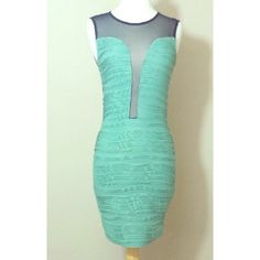 Teal Sexy Dress NWT Wear this sexy dress & show off all your feminine goodies. Have fun with it because you're hot & beautiful inside & out! True to size. Measures 26 inches from armpit to bottom hem. Mint & black color. Back is black sheer. Price is firm unless it's bundled. Please no trading. Dresses Mini