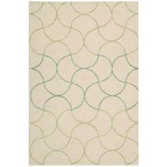 Cambria beige geometric nursery rug