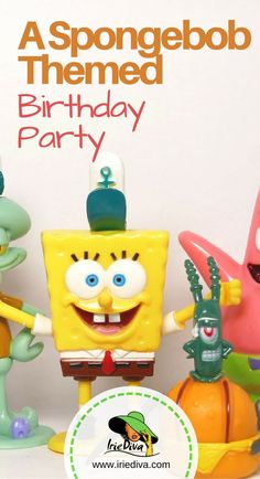 A spongebob themed birthday party for a 3 year old with lots of spongebob party games an decor!