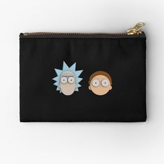 Rick And Morty, Sell Your Art, Gifts For Family, Zipper Pouch, Zip Around Wallet, Coin Purse, 3d, Printed, Metal