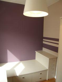 Ideas de #Dormitorio, Niños, estilo #Contemporaneo color  #Azul,  #Blanco, diseñado por QIONE SERVICIOS   #CajonDeIdeas