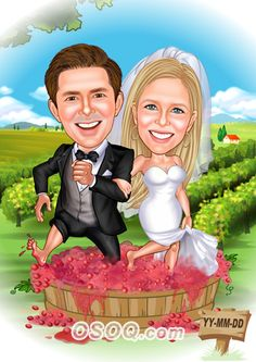 Shop for Caricature artist draw cartoon portrait and Custom Cartoon logo, business card, poster, banner design for your business. Cartoon Logo, Cartoon Design, Wedding People, Wedding Couples, Wedding Caricature, Caricature Artist, Wedding Proposals, Banner Design, Disney Characters