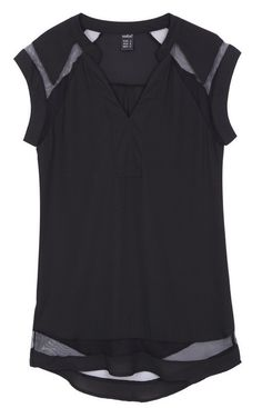 Your favorite shirt is now available in black!! Enjoy shopping in Trendy Road :)  -Transparent Patchwork Tank Top Blouse-