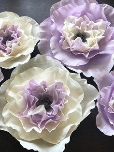 Paper Flowers-Fluffy Boho Crepe Paper Flowers