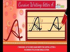 Cursive Letter Writing for Children - CAPITAL LETTER A - Kids Educational Videos