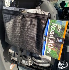 Road Atlas Pouch by Overland Gear Guy - Custom Overland Gear Overland Gear, North Salt Lake, Cargo Net, Car Storage, Trash Bag, Campervan, Van Life, Travel Accessories, Gears