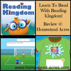 Reading Kingdom is hands down the best reading program I've used with my children.  It teaches reading, typing, spelling and grammar in a fun, integrated way.  My children love using this! | www.homestead-acres.com