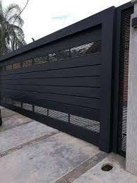 porton herreria minimalista – Recherche Google Entry Doors, Garage Doors, Main Gate, Santa Fe, Recherche Google, Santorini, My Dream Home, Pixel Art, Exterior