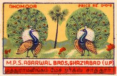 Indian lable via Pilllpat (Agence Eureka) Vintage Pictures, Vintage Images, Old Advertisements, Advertising, Matchbox Art, Type Posters, Light My Fire, Creative Journal, Vintage Labels