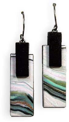 Polymer Clay Daily – Page 20 – Polymer art curated by Cynthia Tinapple Polymer Clay Canes, Polymer Clay Pendant, Polymer Clay Projects, Polymer Clay Creations, Polymer Clay Earrings, Metal Clay Jewelry, Paper Jewelry, Ceramic Jewelry, Plastic Fou
