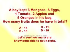 how many fruits in the bag