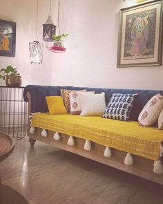 Ishita's Fusion Indian Home in Delhi - dress your home - best interior design. Home Decor Furniture, Home Decor Bedroom, Diy Room Decor, Living Room Decor, Home Room Design, Home Interior Design, Living Room Designs, Interior Home Decoration, India Home Decor