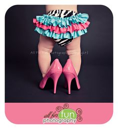 Pink high heels How cute!  def goin to have to do this with my little girl!