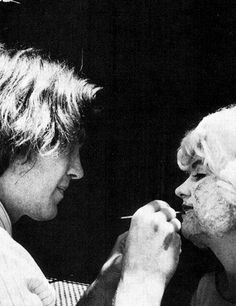David Lynch and Laurel Near on the set of 'Eraserhead' 1977.