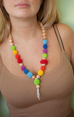 Nursing Breastfeeding necklace - teething toy - rainbow. $32.00, via Etsy. @Cecilia Börjesson De Anda-Melancon Pine (for when Elle is older)