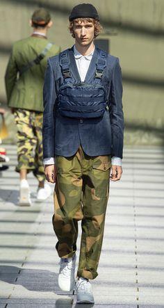 JUNYA WATANABE Spring 2019 Menswear Look #11 featuring Étienne de Testa Junya Watanabe, Bunka Fashion College, Fashion Show, Mens Fashion, Character Costumes, Daily Look, Contemporary Fashion, Style Men, My Style