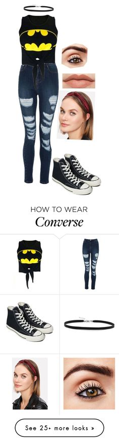 """""""Casual Friday"""" by goddessofbacon on Polyvore featuring WithChic, Converse and BillyTheTree"""