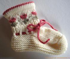 Детские носочки с орнаментом.