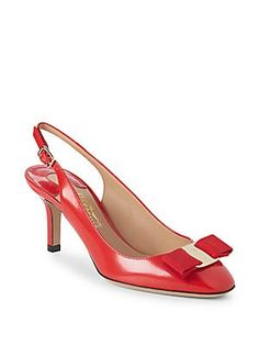 efc2afc7dfe9 Salvatore Ferragamo - Leather Slingback Pumps