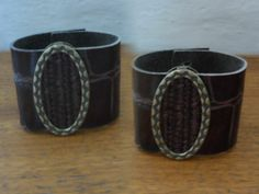Bracelete couro marrom Bracelet