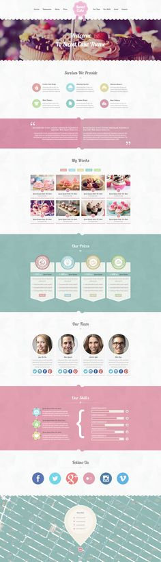 "Sweet Cake - ""Sweety"" Responsive WordPress Theme"