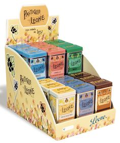 Leone Aniseed Pastilles display and packaging design