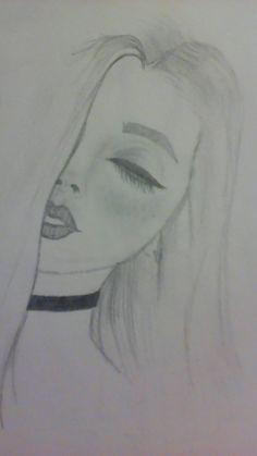 Easy Sketch Of A Girl - malen - Art Sketches Easy Pencil Drawings, Girly Drawings, Cartoon Drawings, Girl Drawing Sketches, Art Drawings Sketches Simple, Girl Sketch, Girl Drawing Easy, Art Sketchbook, Drawing People