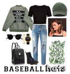 """Baseball Hats"" by janaalonzo ❤ liked on Polyvore featuring Chicnova Fashion, Ted Baker, Dolce&Gabbana, Dr. Martens, Cartier, baseballcap and baseballhats"