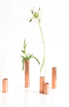 DIY copper pipe vase // www.birambi.com