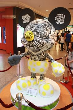 Mickey Mouse by Donald Abraham, Artist at the 'Mickey Mouse Through the yEars' exhibition at Mid Valley Megamall, KL