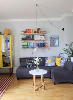 Wnętrza Zewnętrza: Kolorowo w naszym salonie