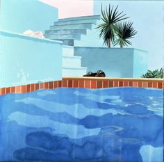 David Hockney, Pool and Steps, Le Nid du Duc (1971). ©