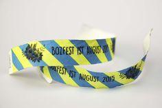 #festivalwedding #wristbands #wedding #bozfest