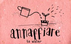 Learning Italian Language ~  Annaffiare (  To water ) IFHN