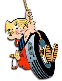 Dennis the Menace Cute Funny Cartoons, Classic Cartoon Characters, Favorite Cartoon Character, Cartoon Tv, Classic Cartoons, Cartoon Drawings, Old School Cartoons, Old Cartoons, Vintage Cartoon