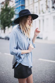☆ Rock 'n' Roll Style ☆  #hat #denim #summer #outfit