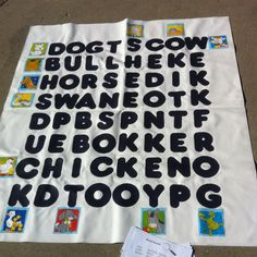 Turn into a multiplication chart  giant tarp word search game used for our Literacy Night!