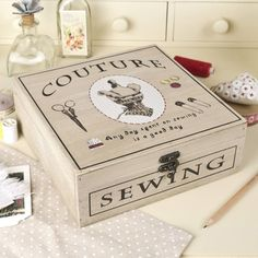 vintage couture sewing box by dibor | notonthehighstreet.com