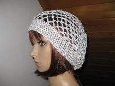Mütze silbergrau, Sommer-Mütze, Beanie von IDS-Style auf DaWanda.com